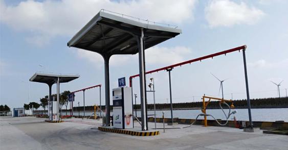 上海老港固废基地LNG船舶加注示范站