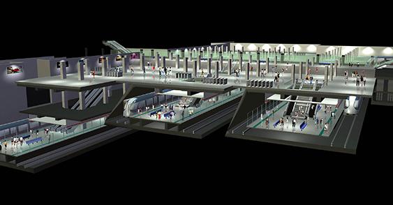 上海轨道交通世纪大道4线换乘枢纽